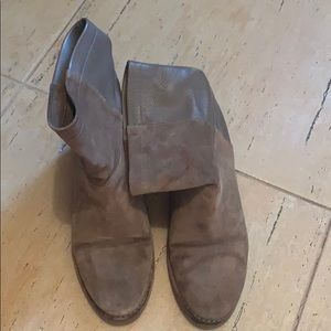 Vince  suede leather combo booties made in Italy